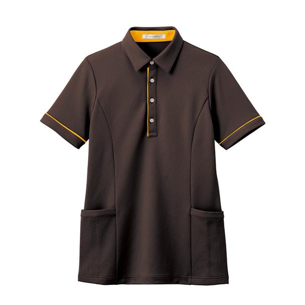 半袖ロングポロシャツ HSP004(S)(アースブラウン) 1