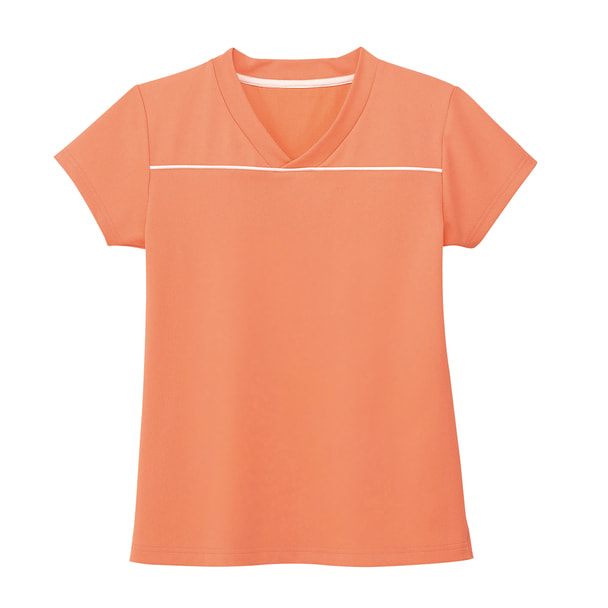 VネックTシャツ HM1589(LL)(マンゴーオレンジ) 1
