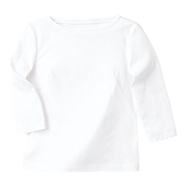 七分袖ボードネックT(天竺)WP354-17(M)(ホワイト) 1