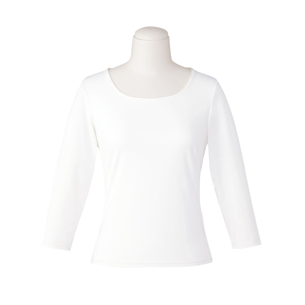 七分袖プルオーバー EWT050(LL)(ホワイト) 1