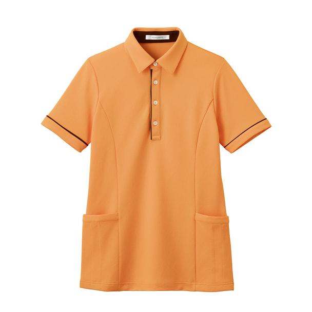 半袖ロングポロシャツ HSP004(S)(サニーオレンジ) 1
