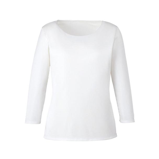 七分袖プルオーバー EWT677(S)(ホワイト) 1