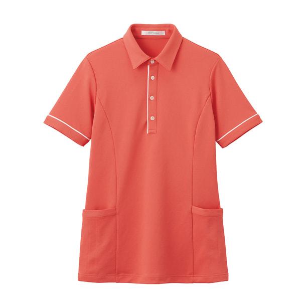 半袖ロングポロシャツ HSP004(S)(コーラルピンク) 1