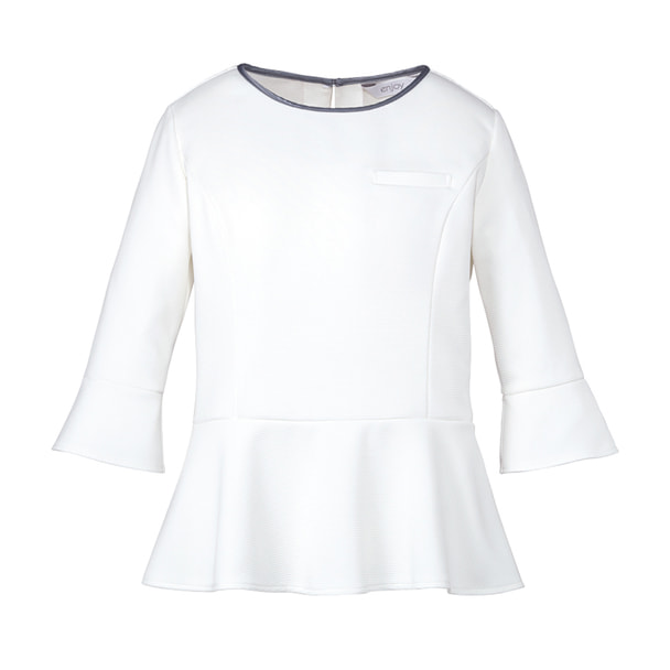 七分袖プルオーバー EWT631(L)(ホワイト) 1