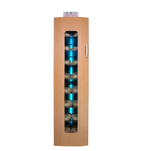 殺菌スリッパ保管庫 UVクリーン DXタイプ 8足保管 右取手 (オリエンタルチェリー)