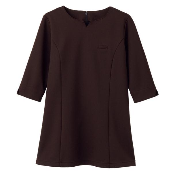 【メーカー欠品】NADジャケット(レディス・7分袖)NAD6006-3(S)(ブラウン) 1