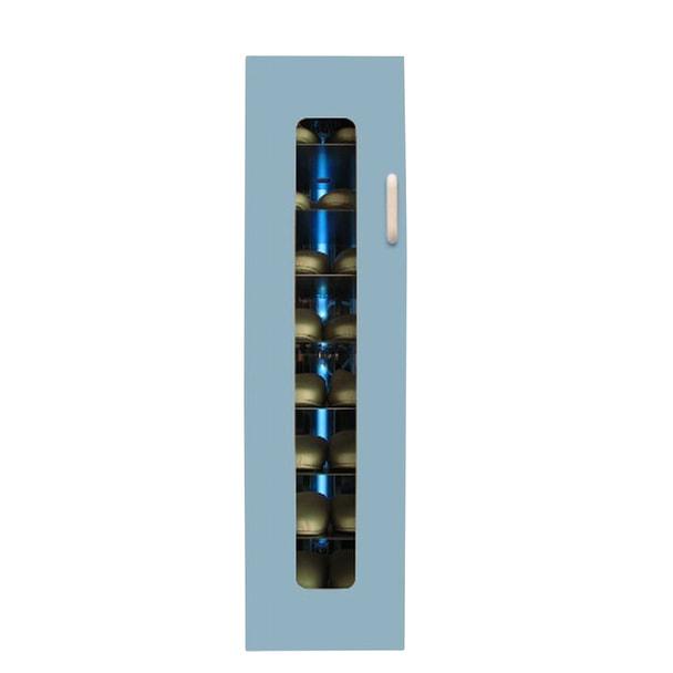 殺菌スリッパ保管庫 UVクリーン エクセレント 8足 右取手 (ブルー)