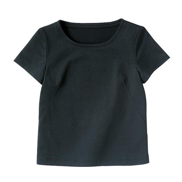 半袖ちゃんとT(天竺)WP304-8(L)(ブラック) 1