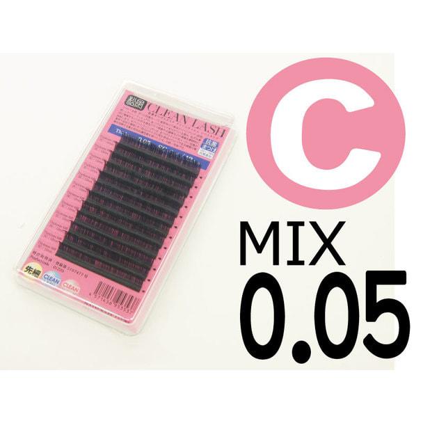【松風】先細抗菌やわらかシルクセーブル Cカール[太さ0.05][長さMIX] (01603) 1