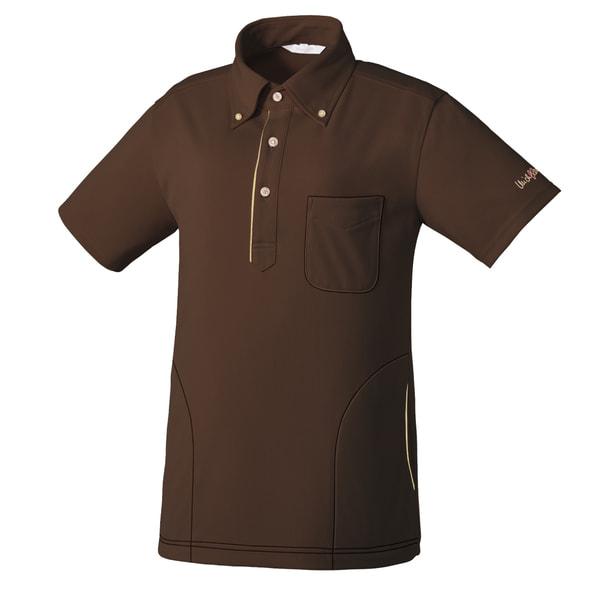 ニットシャツMK0037(S)(ブラウン) 1