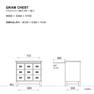 GRAM CHEST 3列3段 オールドウッドブラウン(224618) 4