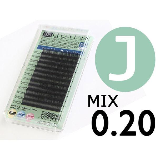 【松風】先細抗菌やわらかシルクセーブル Jカール[太さ0.20][長さMIX] (00514)