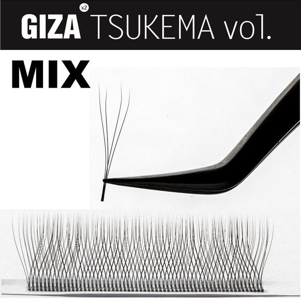 【GIZA TSUKEMA】[Bカール 太さ0.07 長さ8-14MIX] 1
