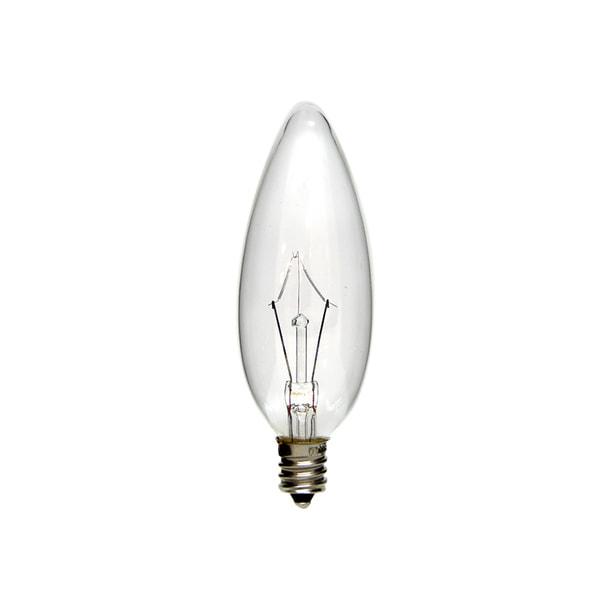 シャンデリア電球C32 E12口金 100/110V 40W