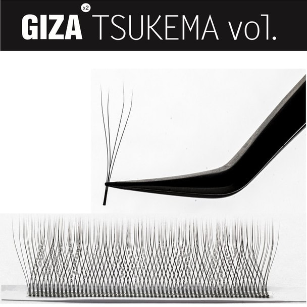 【GIZA TSUKEMA】[Dカール 太さ0.07 長さ9mm] 1