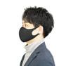 接触冷感マスク 5枚セット(薄手/大きめタイプ)【ブラック】 2
