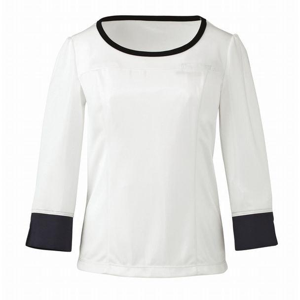 七分袖プルオーバー EWT533(L)(ホワイト) 1