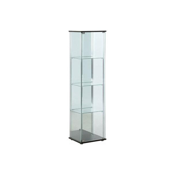 ガラスコレクションケース4段(背面ミラー付き)(96046)