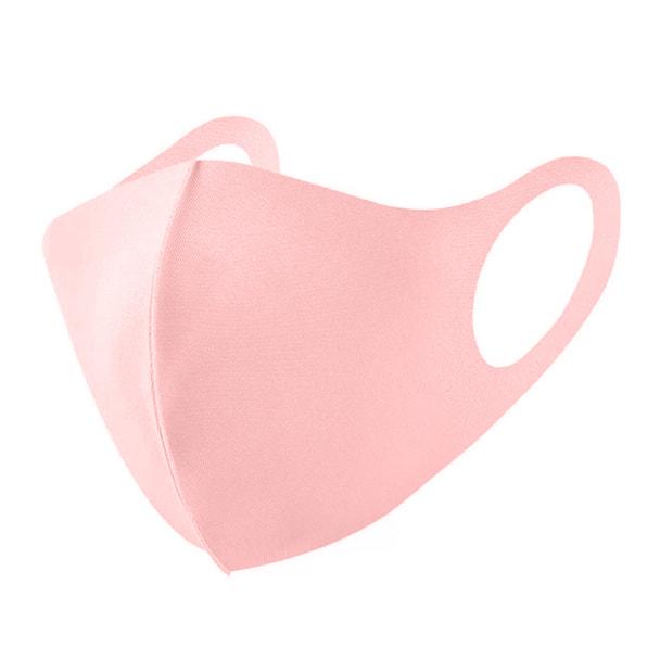 接触冷感マスク 5枚セット【ピンク】