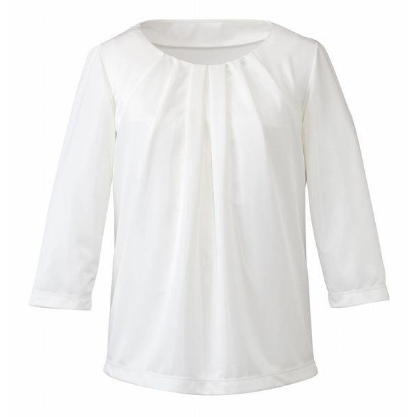 七分袖プルオーバー EWT535(S)(ホワイト) 1