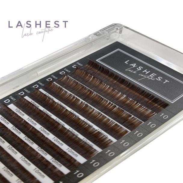 USGourd lash Brown [Dカール太さ0.15mm長さ13mm]
