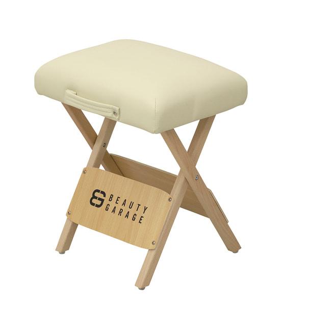 木製折りたたみスツールSP(アイボリー) 1