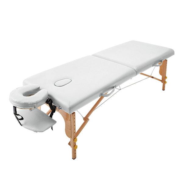 軽量木製折りたたみベッド EB-03DX(キャリーバッグ付)(ホワイト) 1