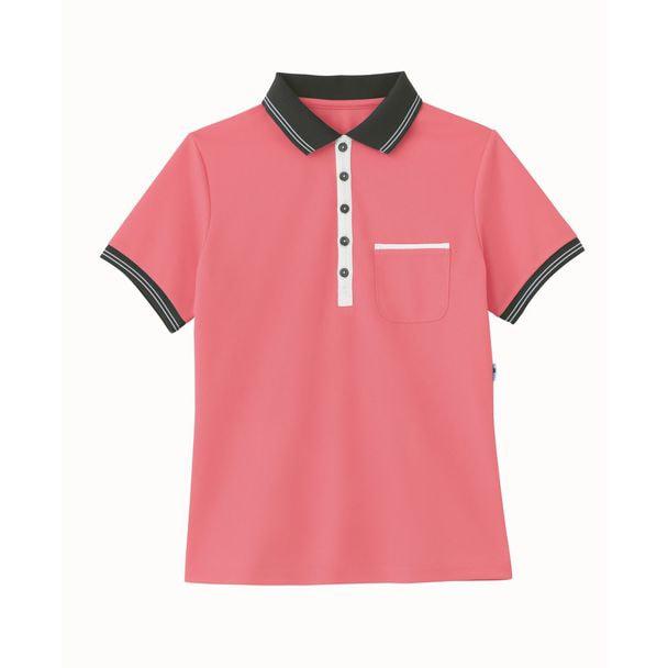 ポロシャツ HM2179(L)(チェリーピンク) 1