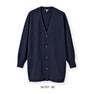 NCDカーディガン(長袖・ロング丈)56-051(3L)(紺) 1