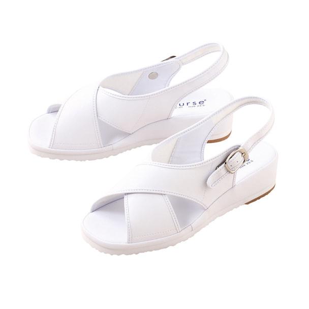 サンダルCL-0164(23.0)(ホワイト) 1