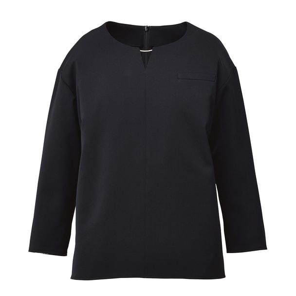 八分袖プルオーバー NWT012(13号)(ブラック) 1