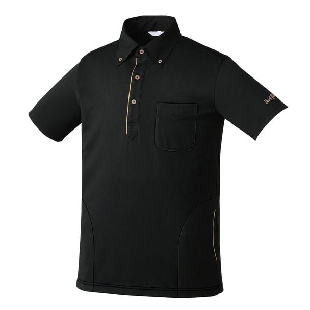 ニットシャツMK0037(S)(ブラック) 1