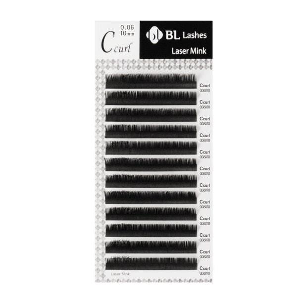 【BL】レーザーエクステミンク Lカール[太さ 0.10][長さ 14mm]