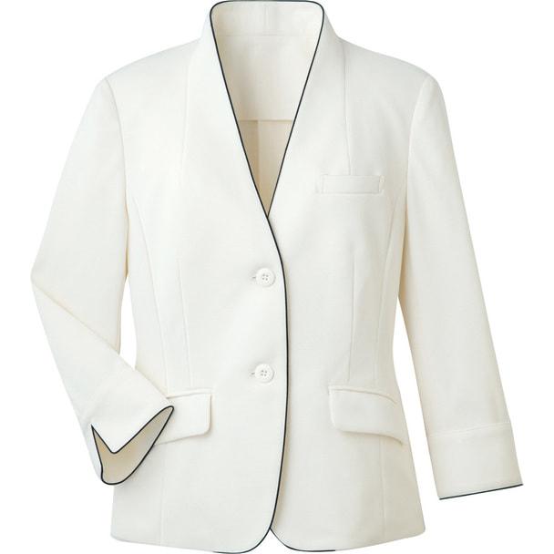 ジャケット(裏なし)WP165-7(15号)(ホワイト) 1