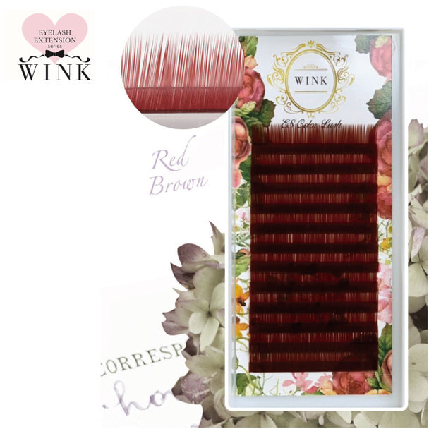 【WINK】レッドブラウン[Jカール 太さ0.15 長さ14mm]