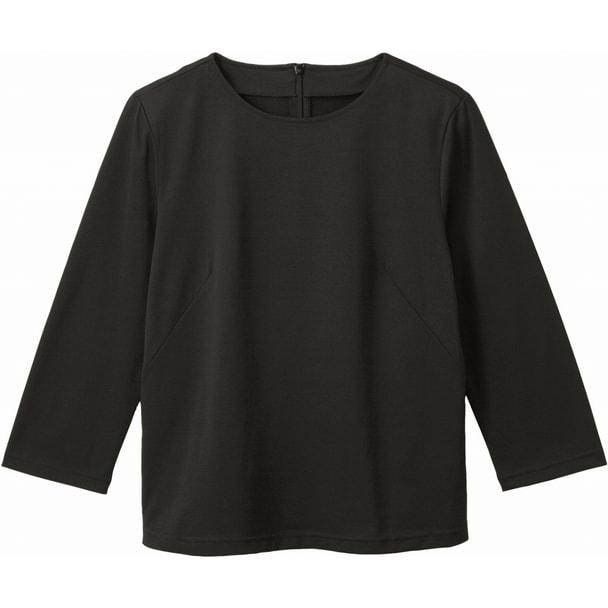 七分袖シームT(天竺)WP359(M)(ブラック) 1
