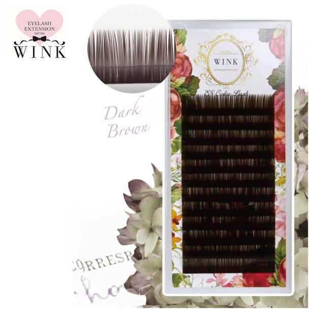 【WINK】ダークブラウン[Dカール 太さ0.15 長さ7mm]