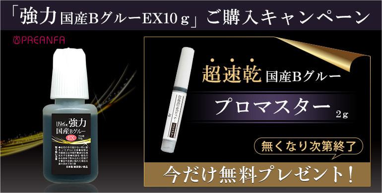 数量限定!「強力国産BグルーEX10g」ご購入で「プロマスター2g」無料プレゼント!