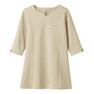 【メーカー欠品】NADジャケット(レディス・7分袖)NAD6006-8(L)(ベージュ) 1