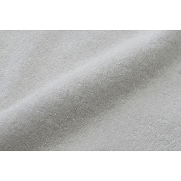 【今治タオル】しっとり潤う ダブルムーン  バスタオル 68×150cm(ホワイト) 1