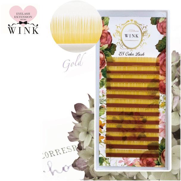 【WINK】ゴールド[Cカール 太さ0.15 長さ14mm]