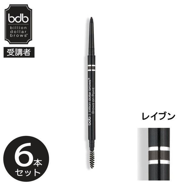 【bdb受講者】マイクロブロウペンシル(レイブン)×6本