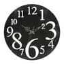 壁掛け時計 レトロ(56921)ブラウン 1