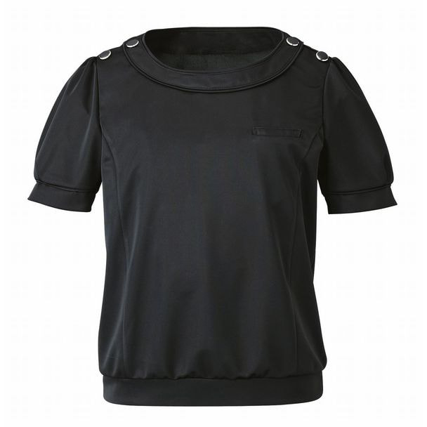 半袖プルオーバー EST534(3L)(ブラック) 1