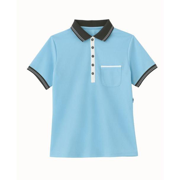 ポロシャツ HM2179(LL)(アクアブルー) 1