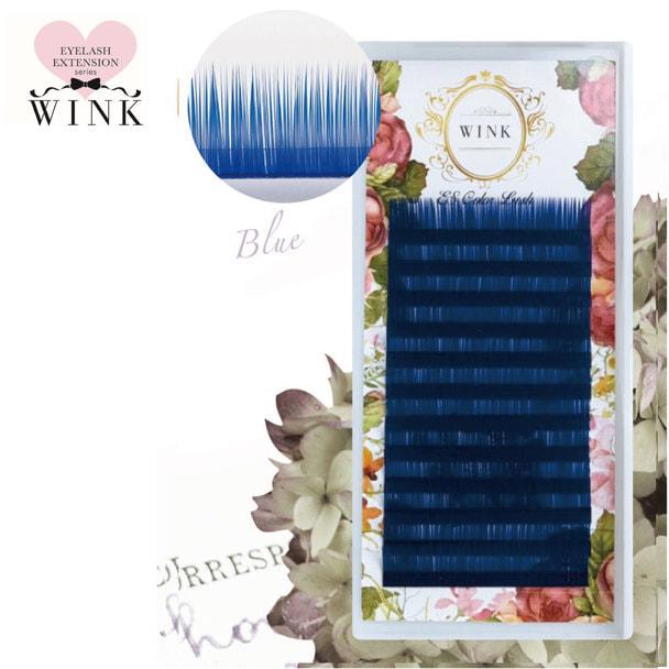 【WINK】ブルー[Dカール 太さ0.15 長さ14mm]