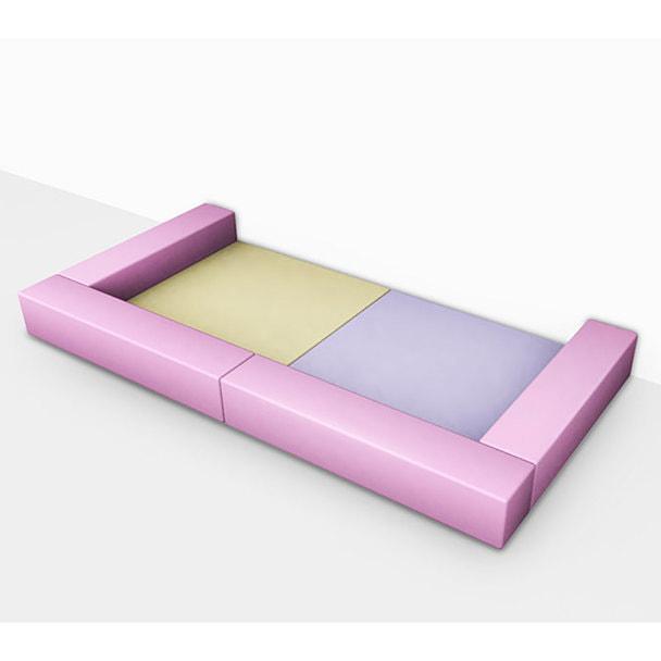 キッズルームスペースコの字セット キュート (ライトイエロー/ラベンダー/ピンク) 1