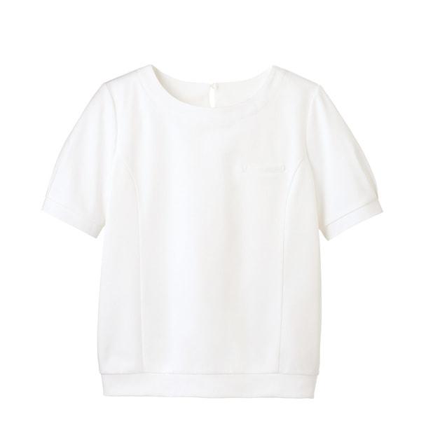 パフ袖オーバーブラウスT WP328(M)(ホワイト) 1