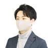 接触冷感マスク 5枚セット(薄手/大きめタイプ)【グレー】 1