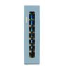 殺菌スリッパ保管庫 UVクリーン DXタイプ 8足保管 左取手 (ブルー)